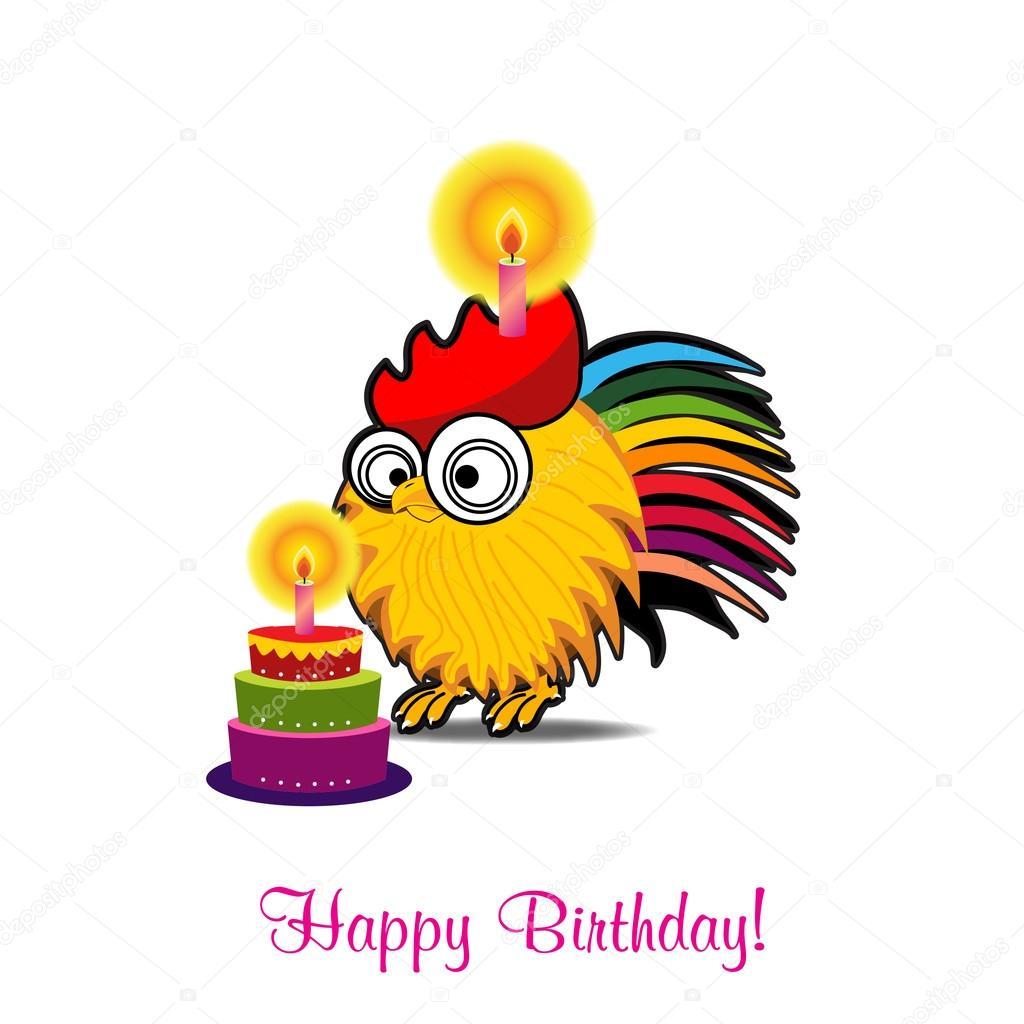 Carte de voeux anniversaire drôle Vector — Image vectorielle pirayesh © #123013766