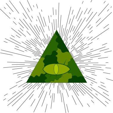 Eye of Providence. Masonic symbol.