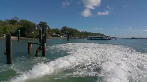 Ferry Leaving the Russell Island Jetty in Brisbane