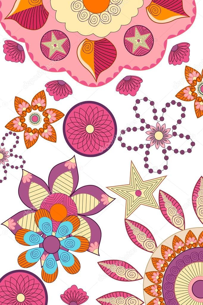 Decorated flower background