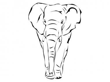 Big Elephant Silhouette