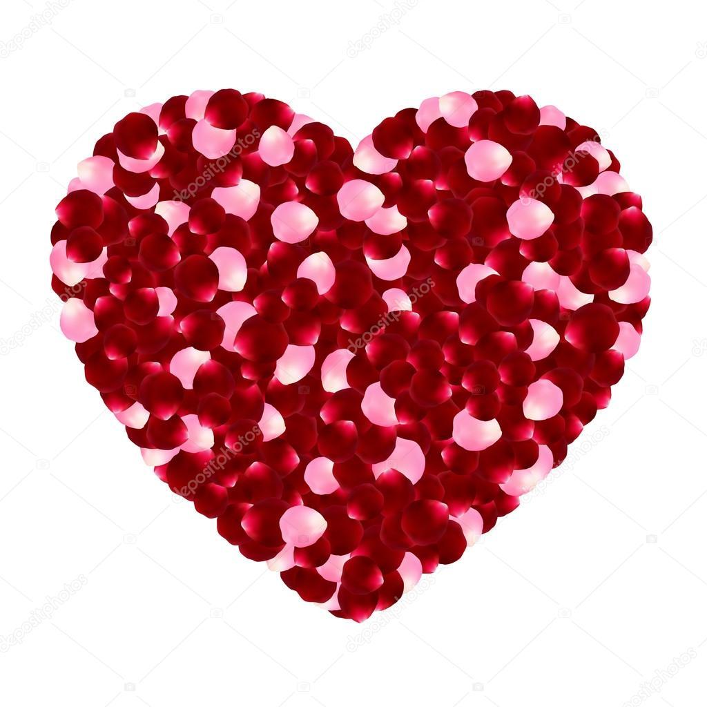 Schön Heart Of Red And Pink Rose Petals. Valentineu0027s Day Art. Love Decor. Romantic