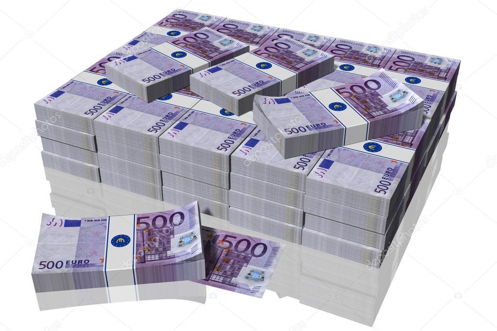 pila de billetes de 500 euros foto de stock massimo1g 117781842. Black Bedroom Furniture Sets. Home Design Ideas