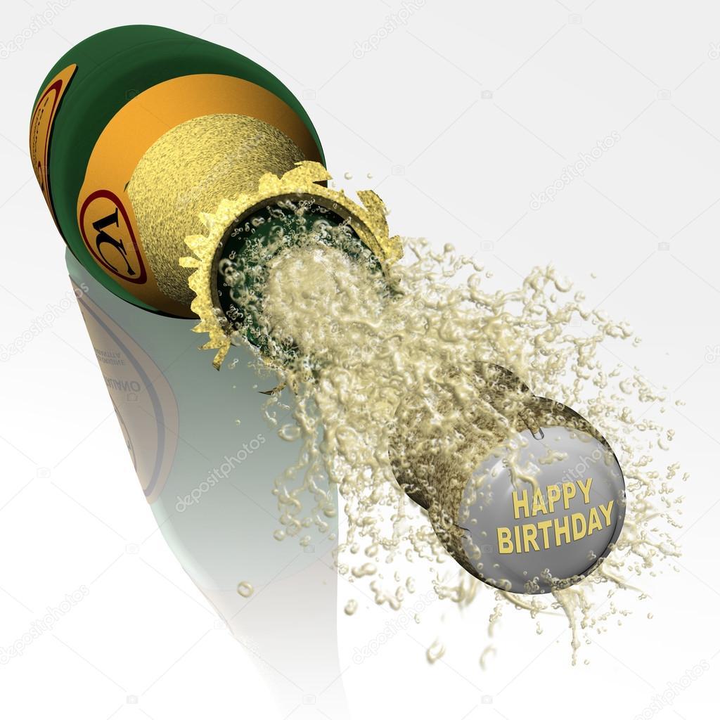 boldog születésnapot pezsgő Üveg pezsgő boldog születésnapot — Stock Fotó © massimo1g #121065100 boldog születésnapot pezsgő
