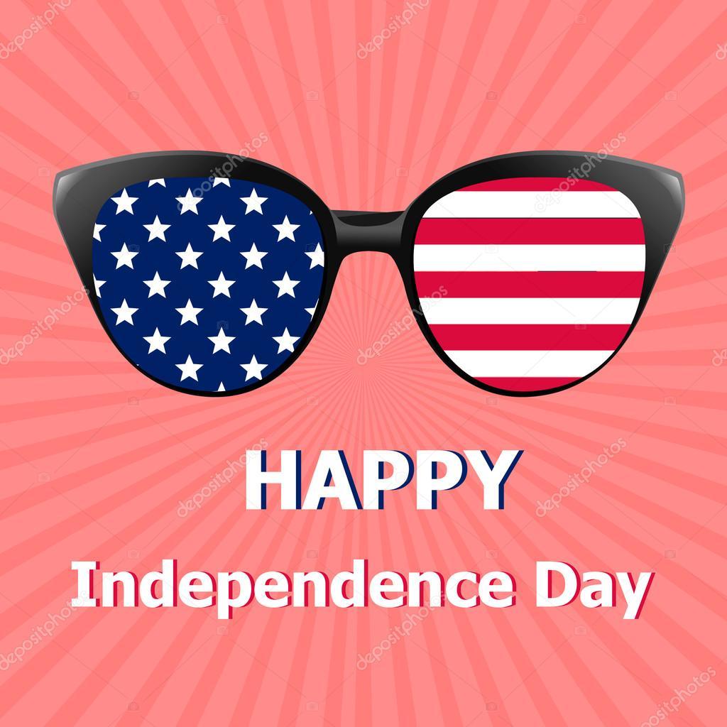 4f240dda1e4 Glasses with USA Flag