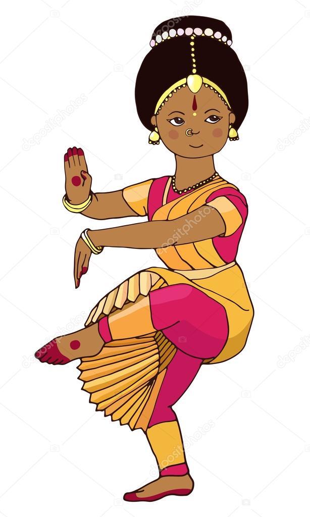 Beautiful Girl Dancing Indian Classical Dance Stock Vector C Anasta See You Yandex Com 115318786