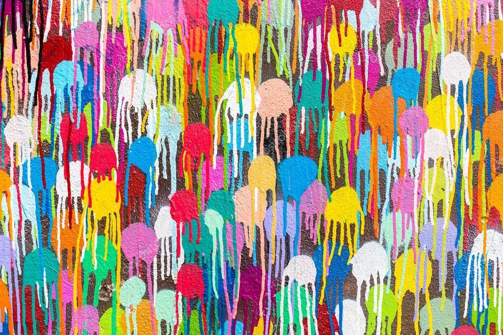 Color Paint Spots On Wall Stock Photo Pierdea 110187890