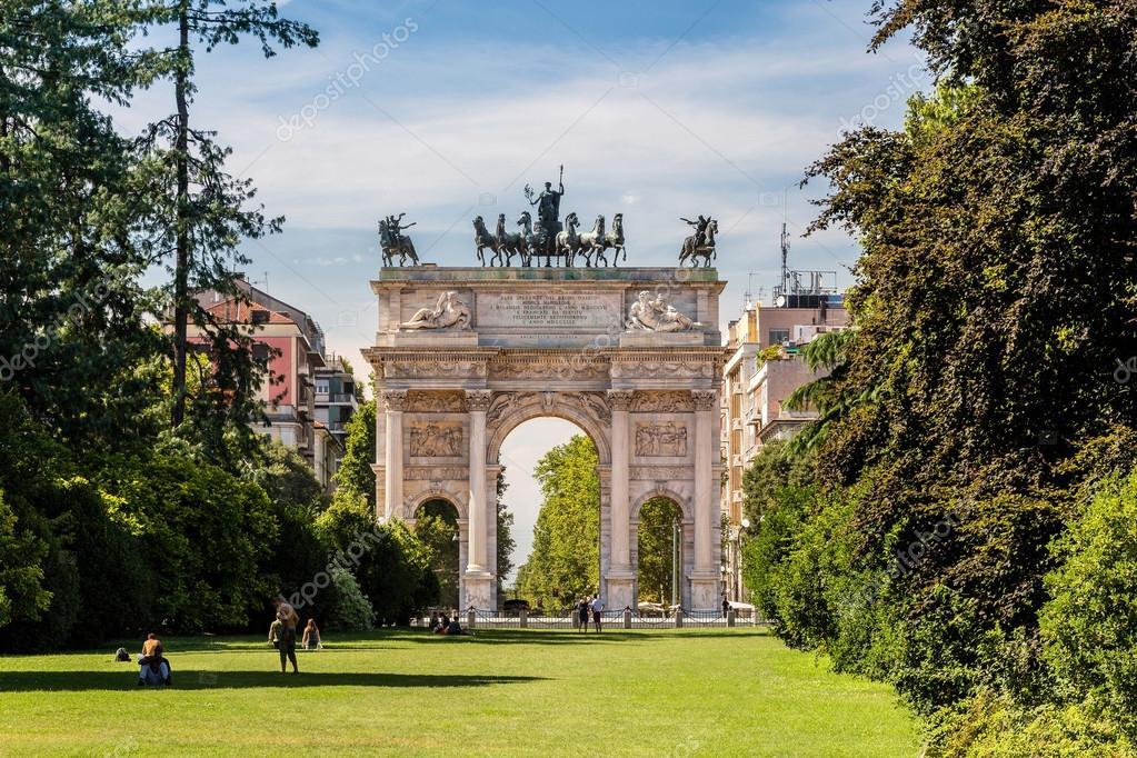 Arco della pace e giardini di parco sempione milano for Living milano sempione