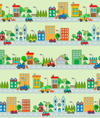 City pattern with cars and buildings.