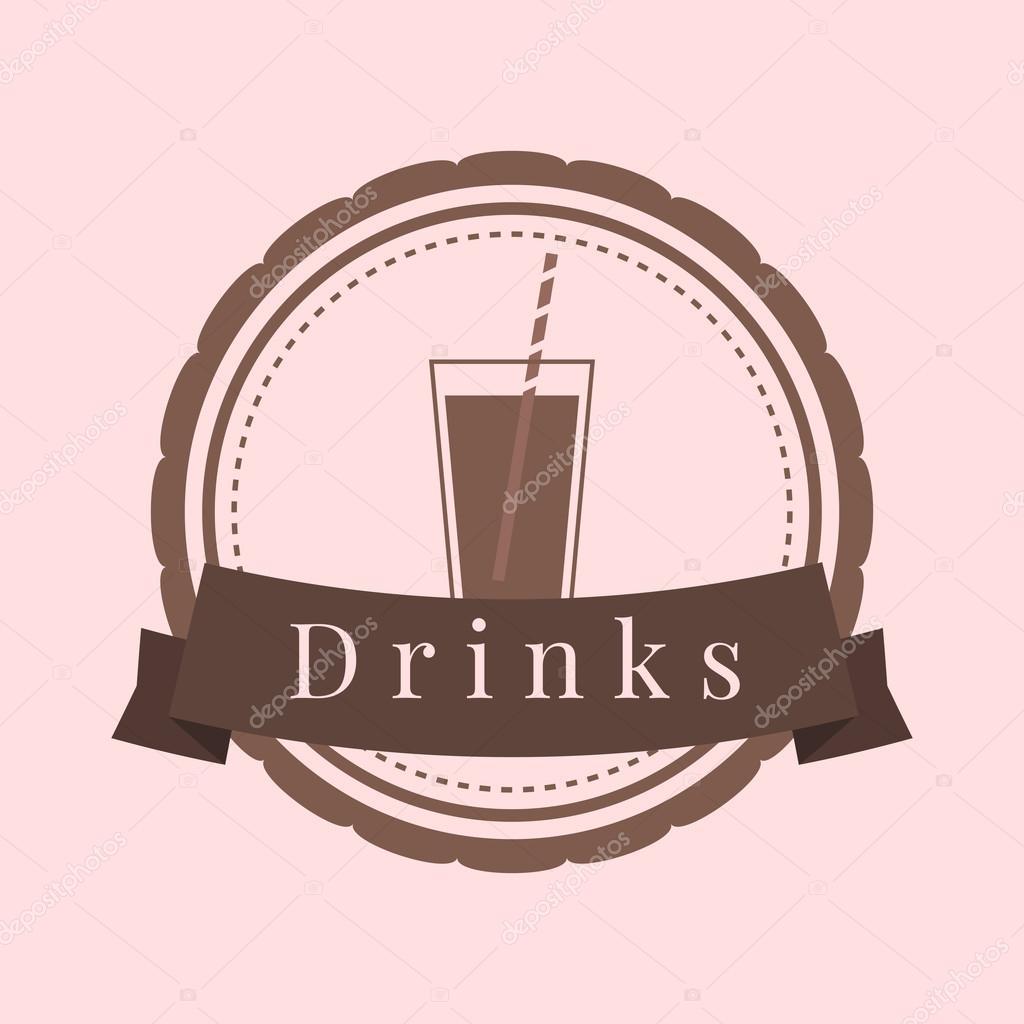 Getränke-Logo, Vektor — Stockvektor © Lilymur #110482252