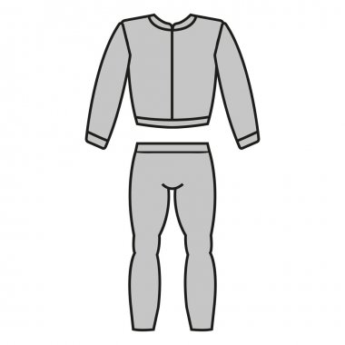 Tracksuit vector. Tracksuit icon fitness. Mens sports suit vector.