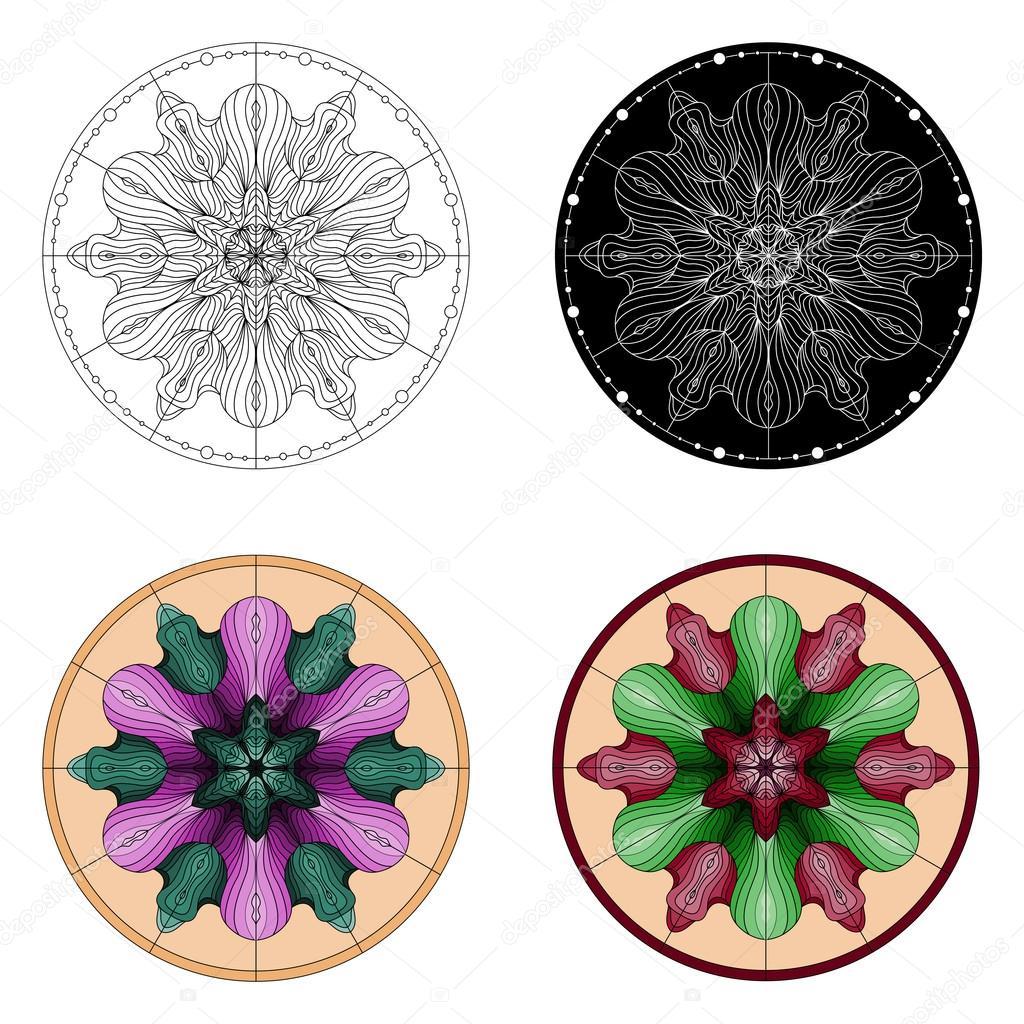 Vecteur De Mandala Art Mandala Dessin De Mandala Modèle