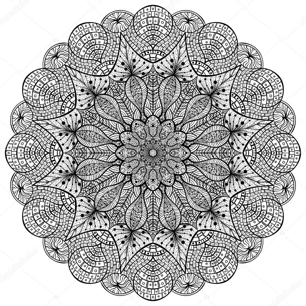 Mandala Kleurplaten Boek.Boek Mandala Kleurplaten Decoratieve Ronde Ornamenten