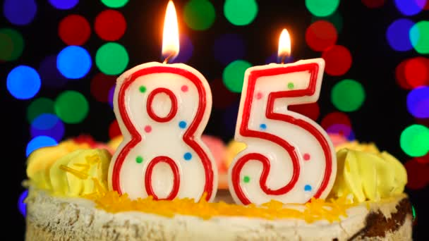 Száma 85 Boldog Születésnapot torta Witg Burning Candles Topper.