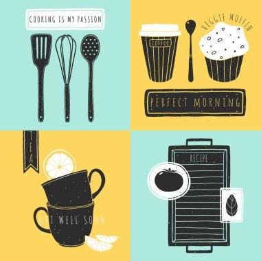 kitchen hand drawn elements