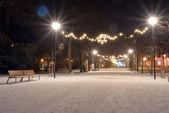 Vánoční osvětlení v Poděbrady Česká republika