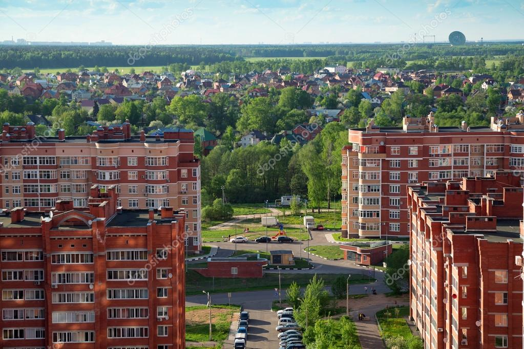 New buildings and cottage village. Balashikha, Russia