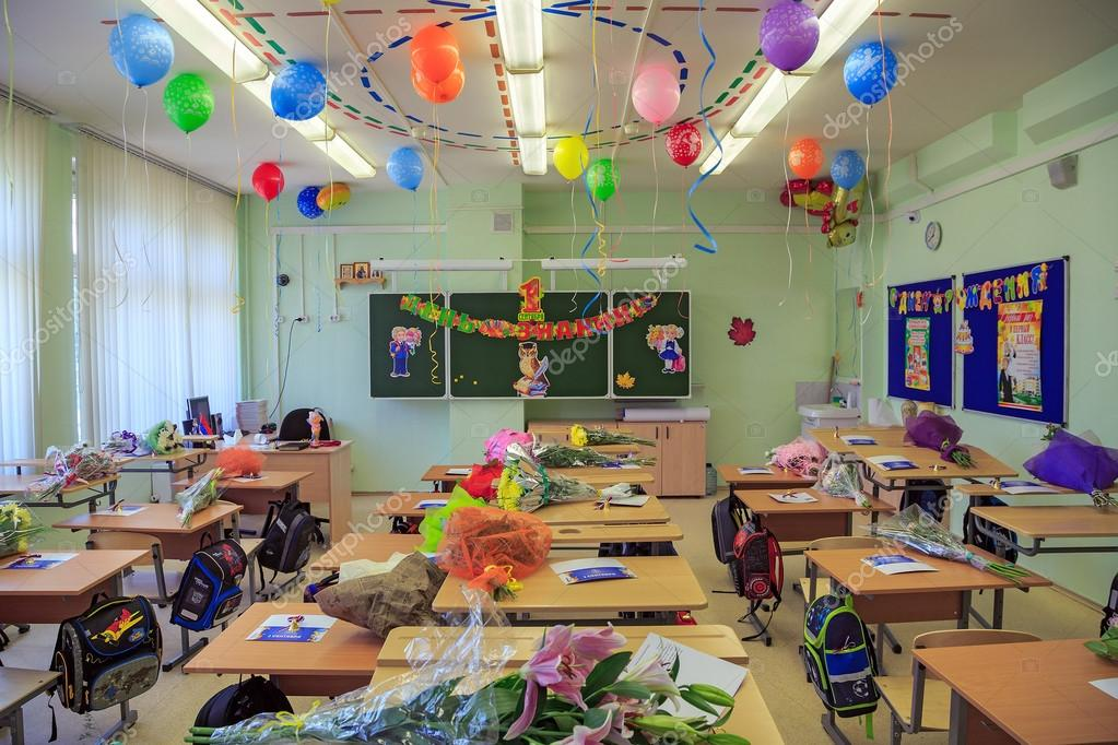 Decorated Classroom For The First Graders City Balashikha