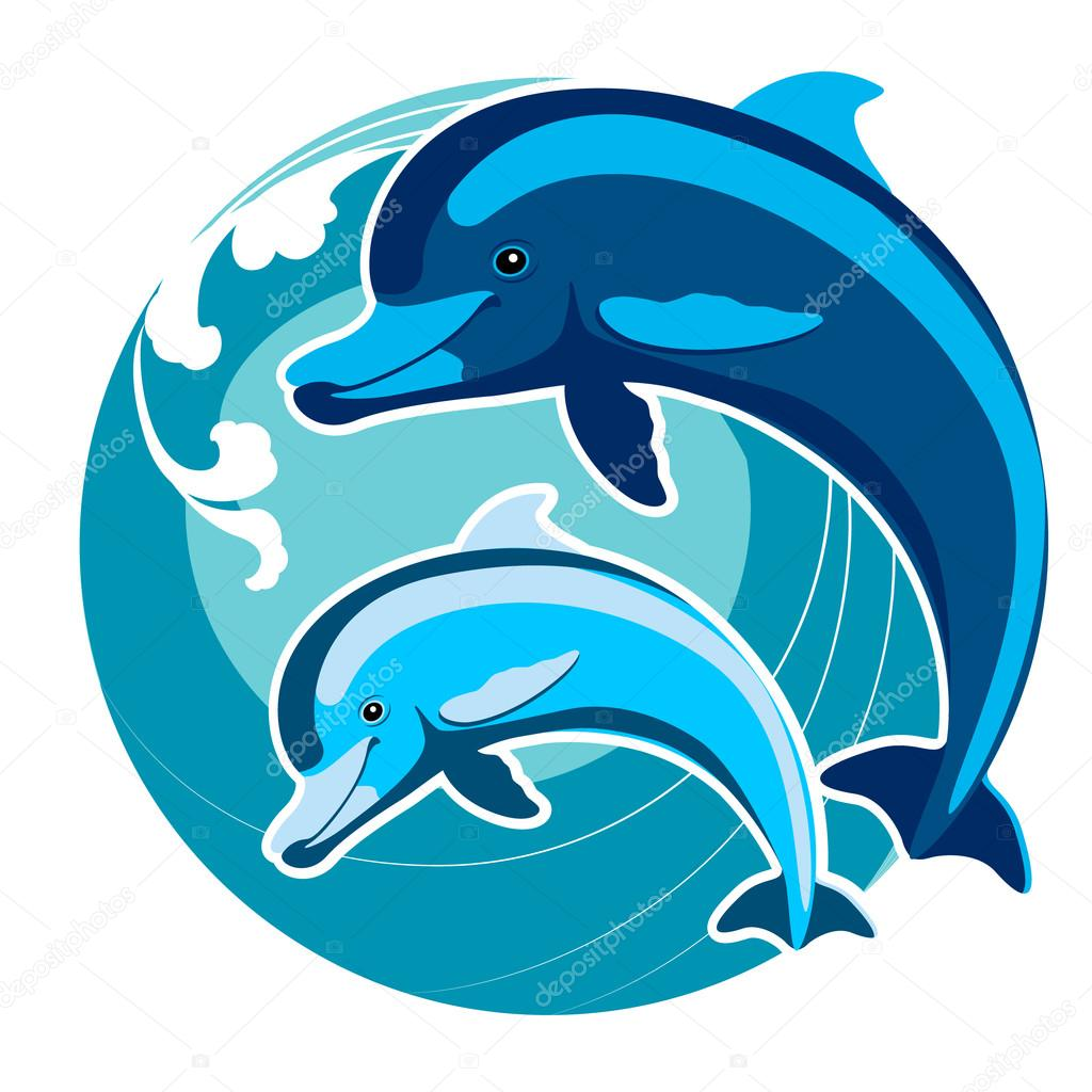 Dolphins Amid The Waves A Symbol Of Protection Feng Shui Stock