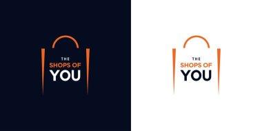 Modern and elegant shopping bag logo design 1 icon