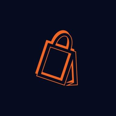 Modern and elegant shopping bag logo design 3 icon