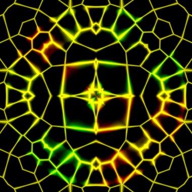 Abstract Lighting Flower Network Design
