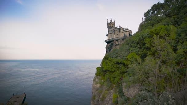 známý hrad Vlaštovky Hnízdo u Jalty na Krymu,
