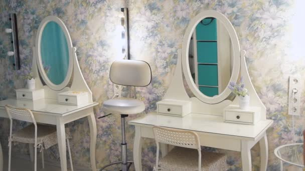 A bright makeup studio. Comfortable studio for makeup master and hair stylist
