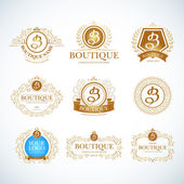 Boutique Luxury Vintage Logos.