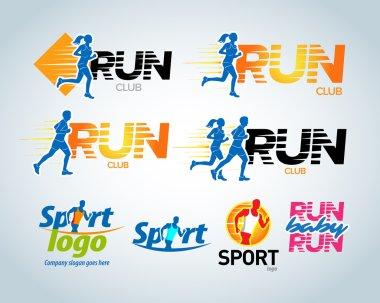 Sport club, running club labels