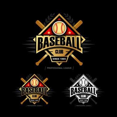 Golden Baseball sport badges