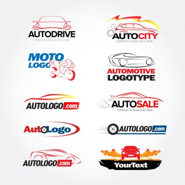 Car logotypes templates set