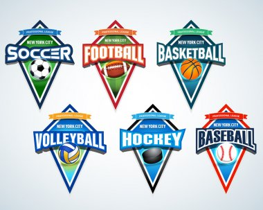 Sport team logo emblems