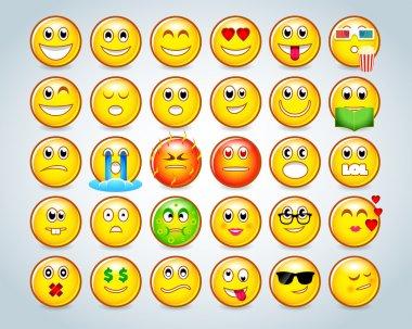Emoticon faces set