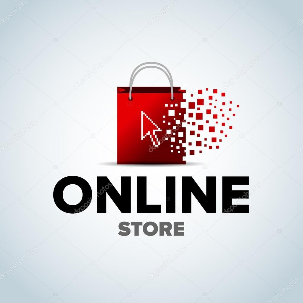low priced b64dd 8f899 Online shop, online store logo — Stock Vector © ideasign ...