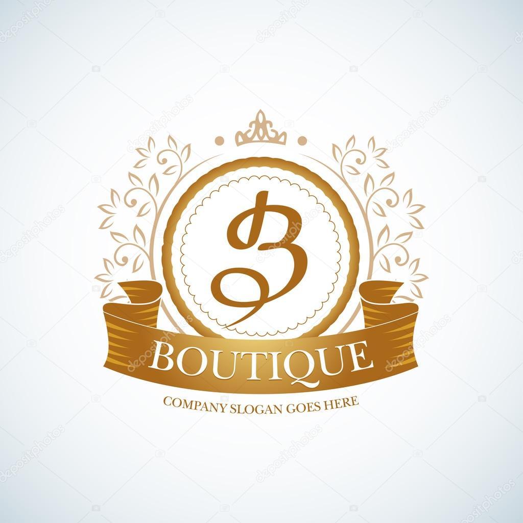 Boutique luxury vintage logo grafika wektorowa for Boutique luxury