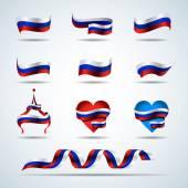 Fotografia Bandiere di Russia, tricolore russi nastri