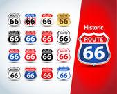 Fotografie Route 66 znamení sada