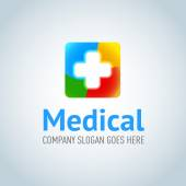 Fotografie Medical application logotype template