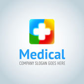 Fotografie Medical application logotype template