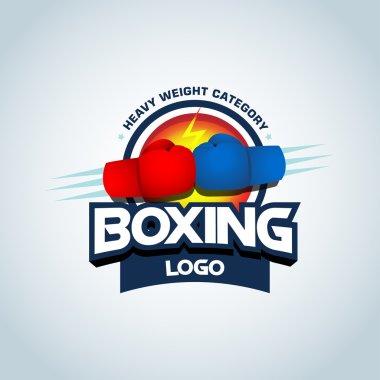Boxing logo template