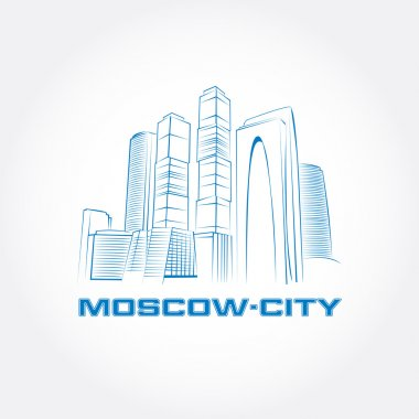Moscow City. Moscow business buildings