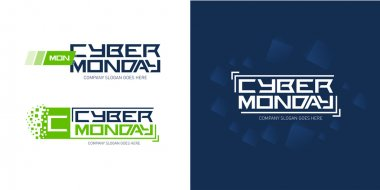Cyber monday logo design templates