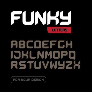 'Funky letters'  Modern font