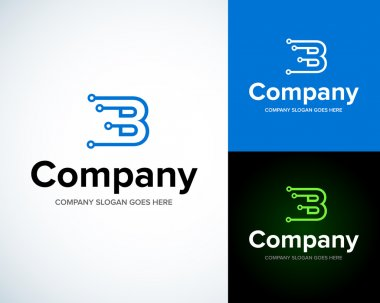 Modern stylish logo with letter B