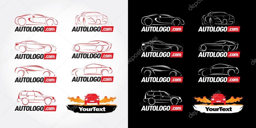 Car logotypes - car service and repair