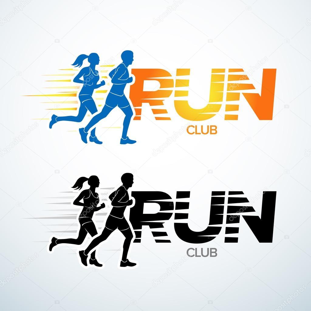 Plantilla de logotipo club Run. Plantilla de logotipo de deporte d24cbc18c3b9f