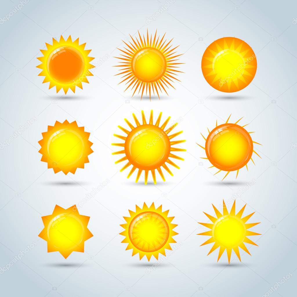 Sun burst star logo icons