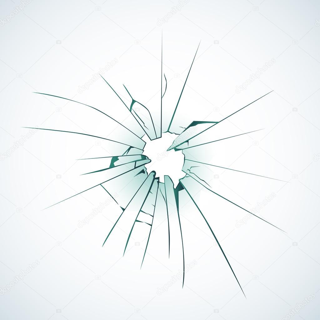 Mattierte Scheibe gebrochen — Stockvektor © ideasign #124160358