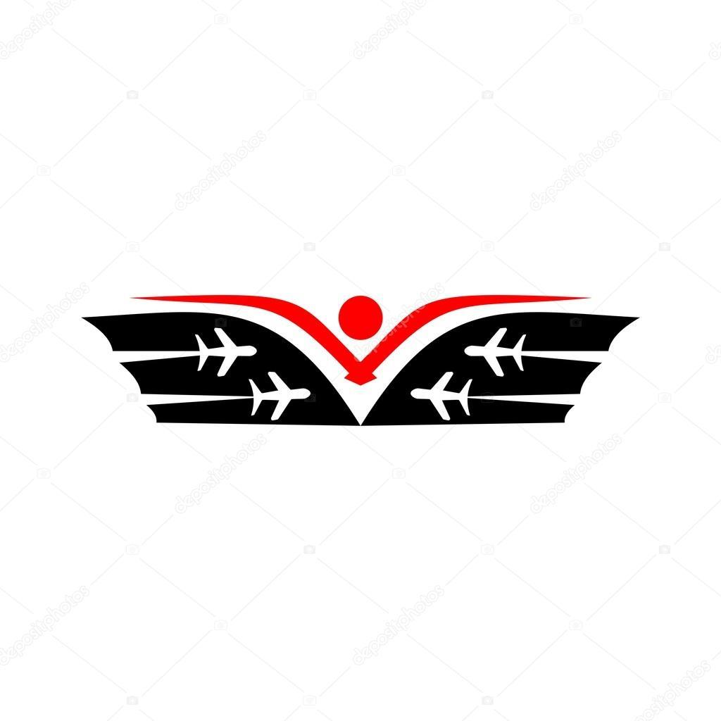 Vector In N Out Logo Turismo Logo Plano De Viaje Ala Vector De